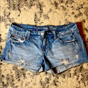 Distressed denim shorts from American Eagle